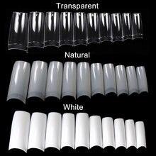 100/500 pçs dicas transparente metade da capa unhas metade francês falso unha arte dicas acrílico uv gel manicure ponta diy ferramenta
