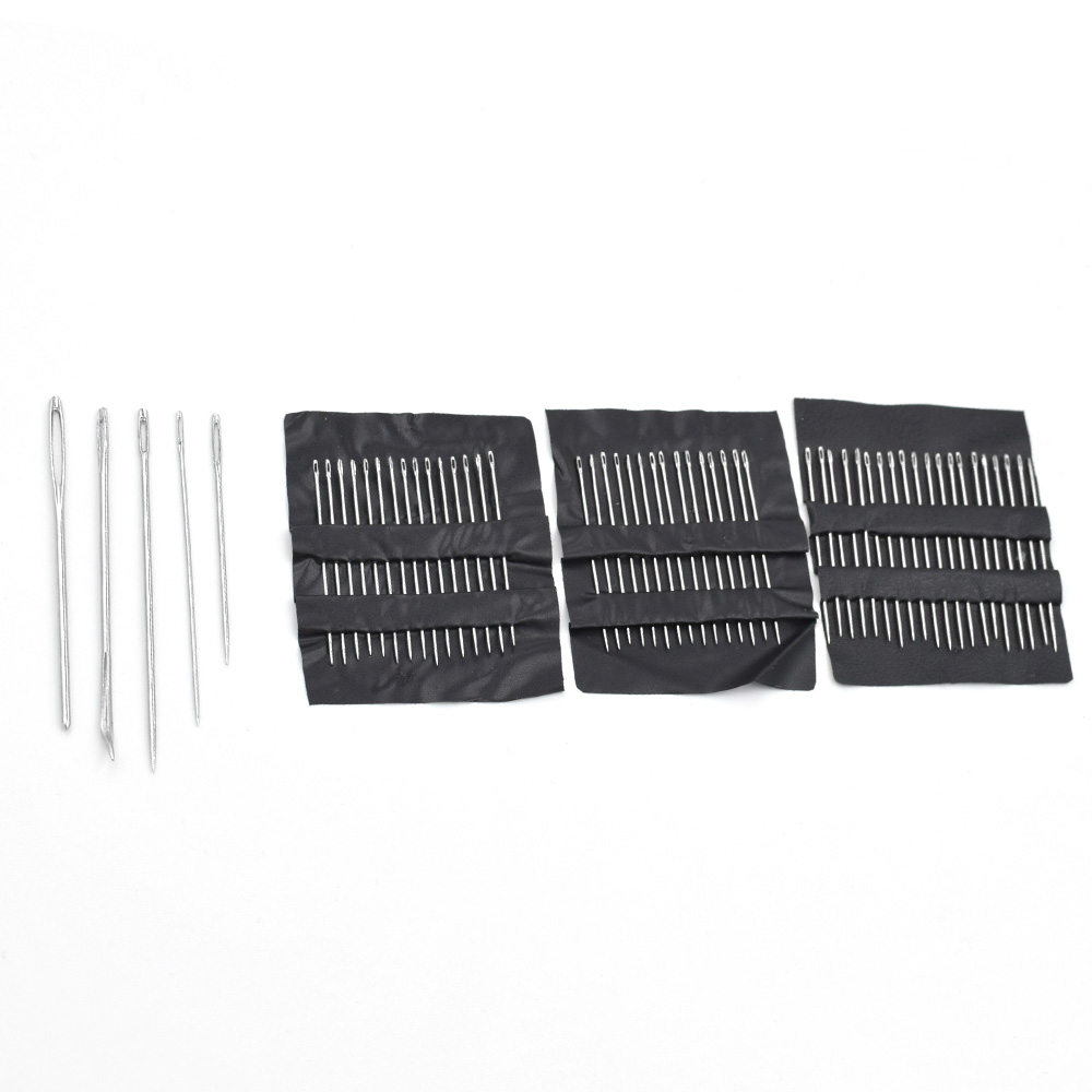 30PCs packet Stainless Steel Sewing Needles Sewing Pins Set Home DIY Crafts Household Sewing Accessories Buttons Snap in Buttons from Home Garden