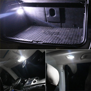 Image 4 - 2Pcs 3030 SMD Map Dome Lights 31mm LED Light 6500K White SMD Car Dome Double Tip Reading Lamp Roof Bulb LED Lamps For Cars