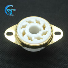 10PCS GZC8 Y 7 G new 8 pin K8A gold tube sockets ceramic base suitable for