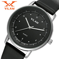 2016 New Luxury Brand VILAM Leather Strap Analog Men's Quartz Watch Fashion Casual Sport Clock Men Wrist Watch Relogio Masculino