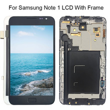 Y-HOIVA Black White Replacement For Samsung Galaxy Note 1 N7000 i9220 LCD Screen+Frame Touch Display Digitizer Free Shipping