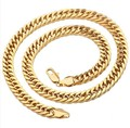(600*10mm)Yellow Gold Plated High Quality Heavy Thick Chain Necklace Men european style