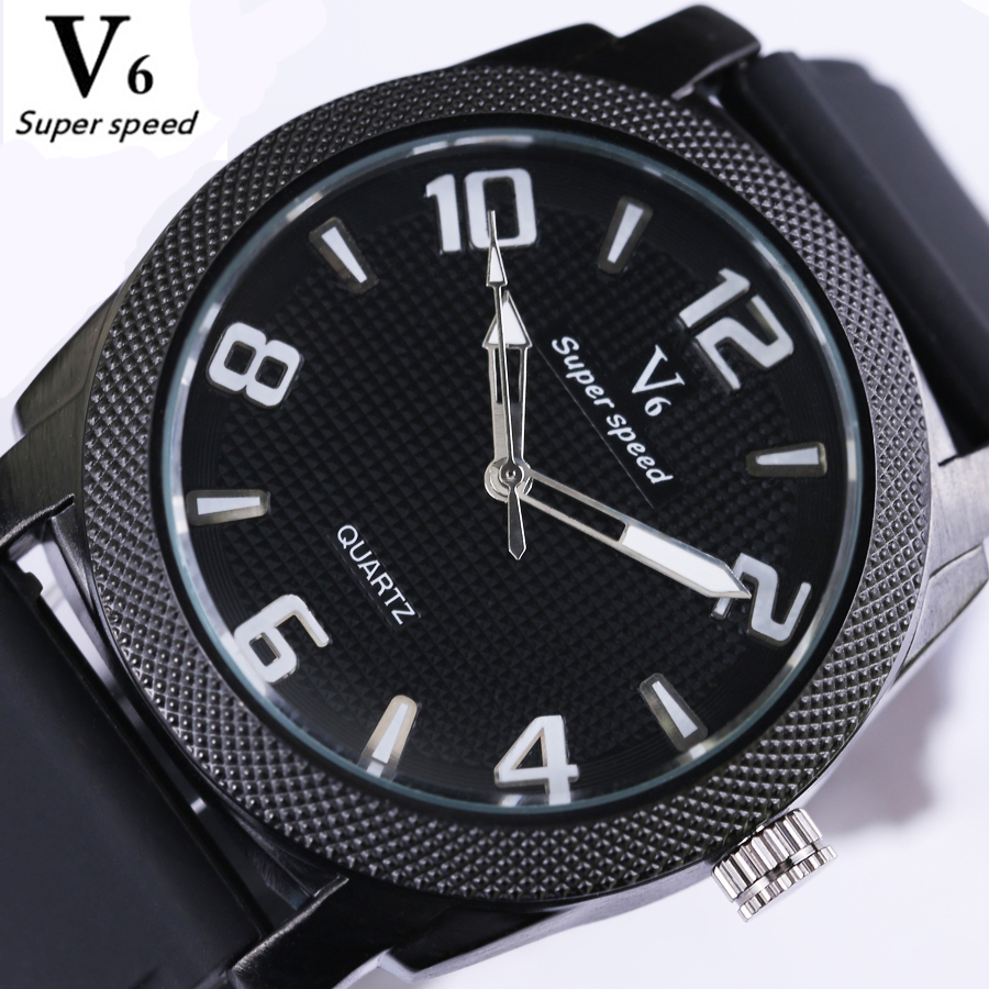 Watches Men Luxury Brand Sports Waterproof Watches Casual Quartz Watch male Silicone Strap Clock Reloj Relogio Masculino V0276 weide new men quartz casual watch army military sports watch waterproof back light men watches alarm clock multiple time zone