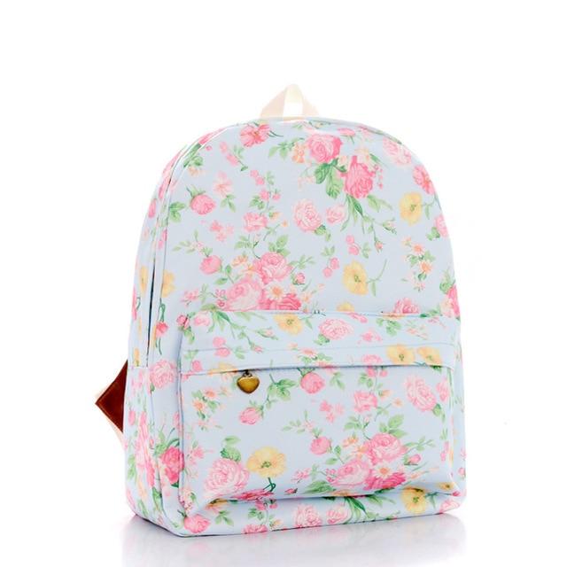 83fc9ff82bc8 Beauty Rose Flowers Printing Classic Korean Harajuku Mori Girl Backpack  Casual Fashion Campus Schoolbag Travel Daypacks