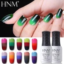 HNM נייל ג ל 3 צבע שינוי 8ML Thermo ג ל לק Gellak היברידי לכה משרים כבוי חצי קבוע ביול Nagellak