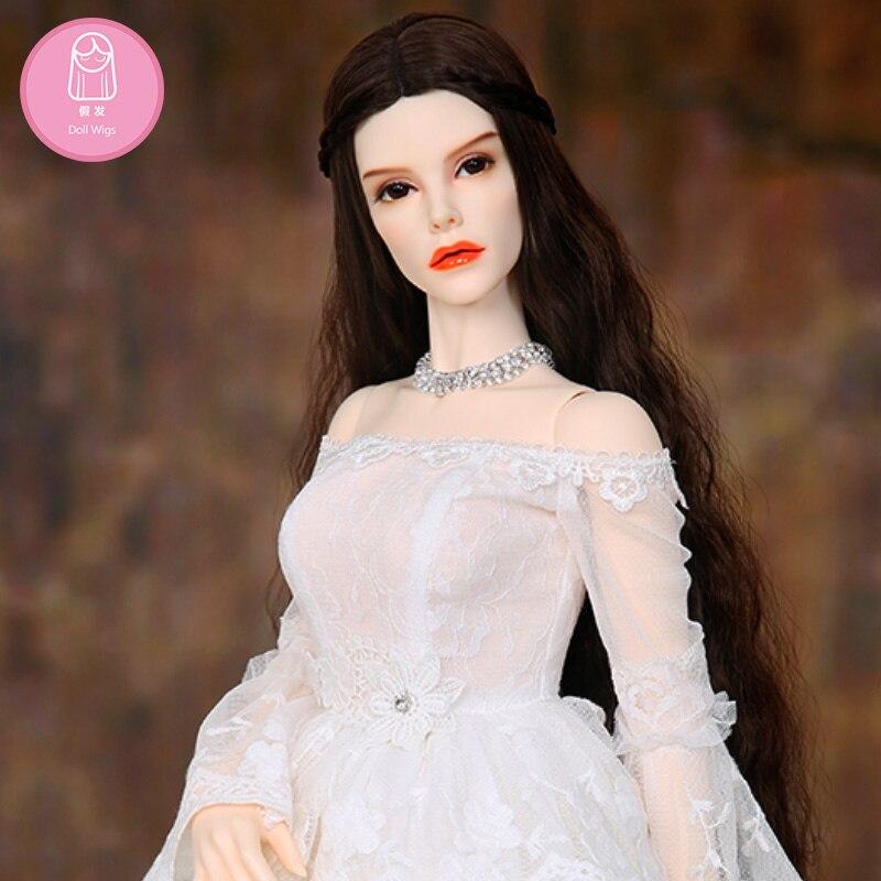 Perruque Pour BJD Poupée L15 #8 livraison gratuite taille 9-10 pouce 1/3 Eid Rania Bibiane haute- température perruque long cheveux bjd sd poupée Perruques bricolage