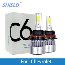 2Pcs LED Car Headlamp 12V 6000K White H4 H7 H11 9005 Auto Light Bulb For Chevrolet Cruze Orlando Captiva Epica Lacetti