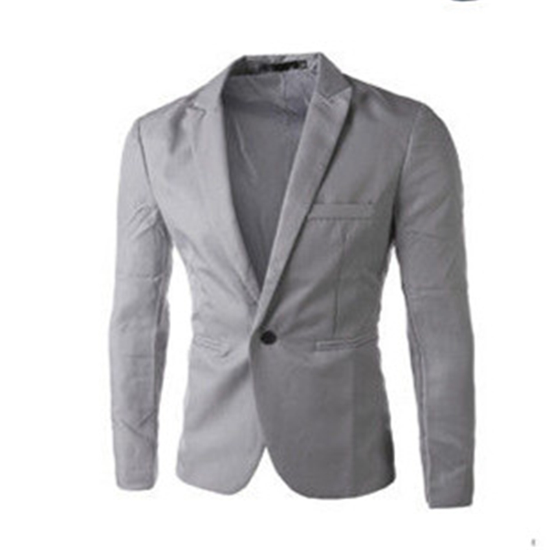 2018 New Arrival Men Suit Blazer Men 6 Solid ColorS Fashionable Casual Blazer Masculino One Button Blazer Suits Plus Size XXXL