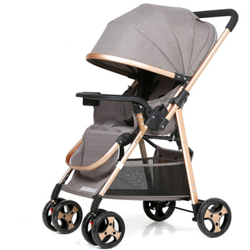 Baby stroller can sit reclining folding ultra light portable shock two-way baby umbrella newborn child baby stroller 4 6kg baby sleeping 180 degree light folding portable ultra light baby car umbrella two way summer child trolley baby stroller