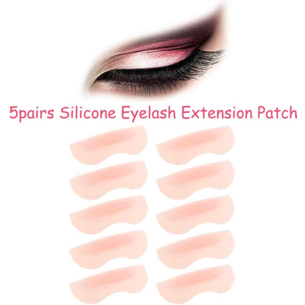 Utile 5 Pairs 3 Diverse Dimensioni in Silicone Gel Ciglia Bigodino di Perm Kit di Curling Falso Falso Eye Lashes Radice di Sollevamento Scudo pastiglie