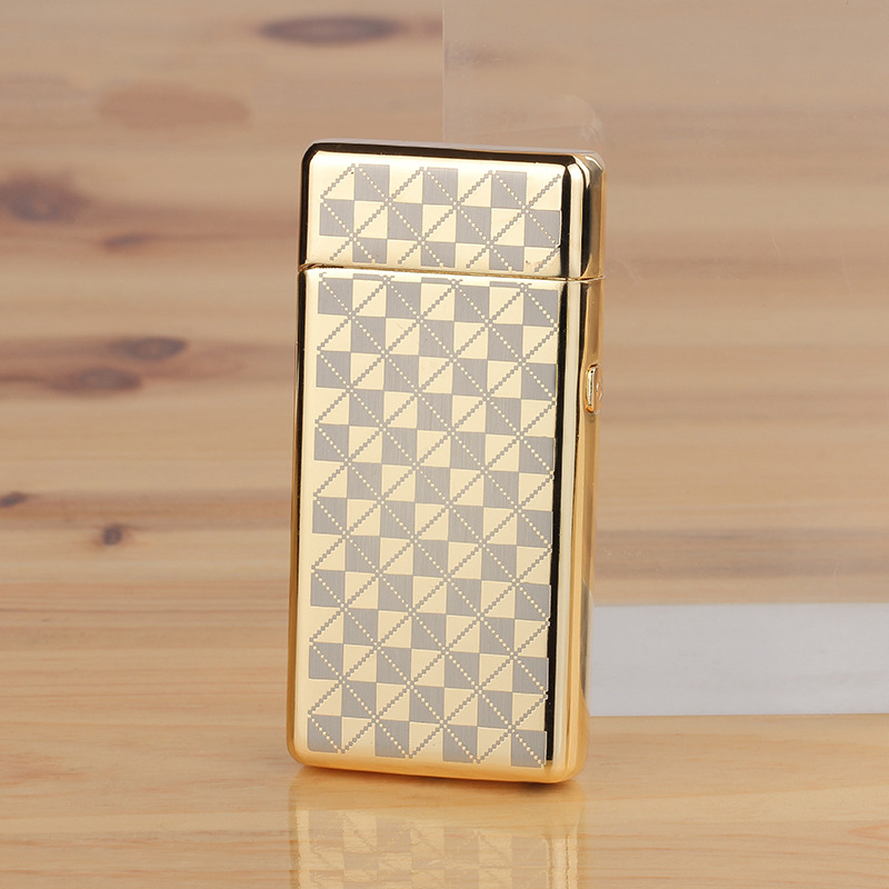 Cigarette Lighter Windproof Metal Electric Arc Lighter Electric Plasma Pulse USB Rechargeable Cigar Smoking Lighter For Man