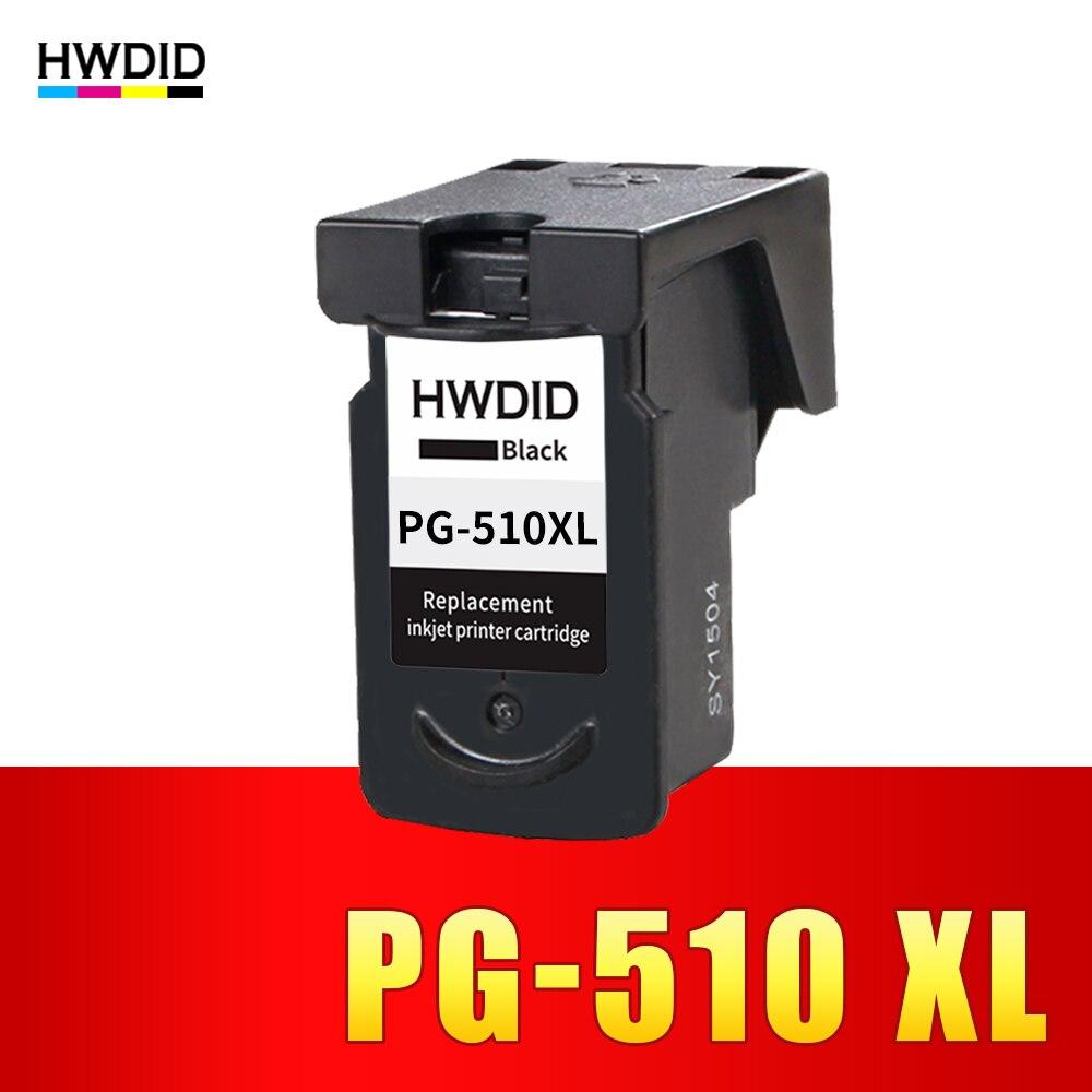 HWDID PG510 PG-510 PG 510 XL llenar negro cartucho de tinta compatibles para Canon iP2700Pixma MP250 MP270 MP280 480 MX320 330 MX340