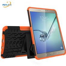 """3 in 1 Heavy Duty Armor Tire Style TPU PC Hard Cover Case for Samsung GALAXY Tab S2 T710 T715 8.0"""" tablet Skin Robot Cover Case"""