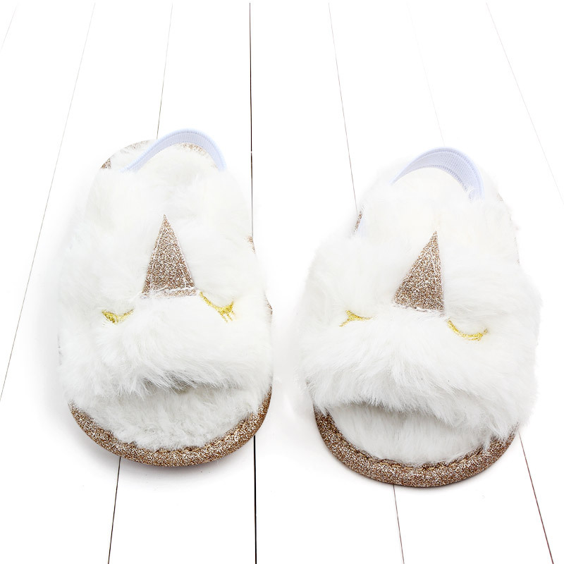 Baby sandals girls baby summer Kids Shoes Lovely Plush Toddler Princess Non-slip Crib Slippers Kids Gifts baby summer shoes Gift (1)