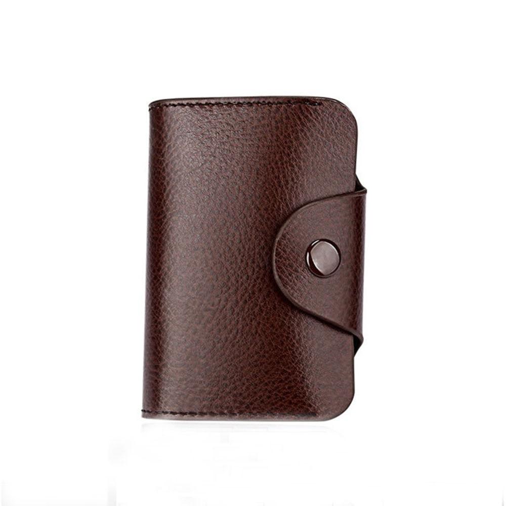 High Grade coffee fashion male purse Genuine Leather ID Card Holder Card Wallet Credit Card Holder Business Card Organizer Purse