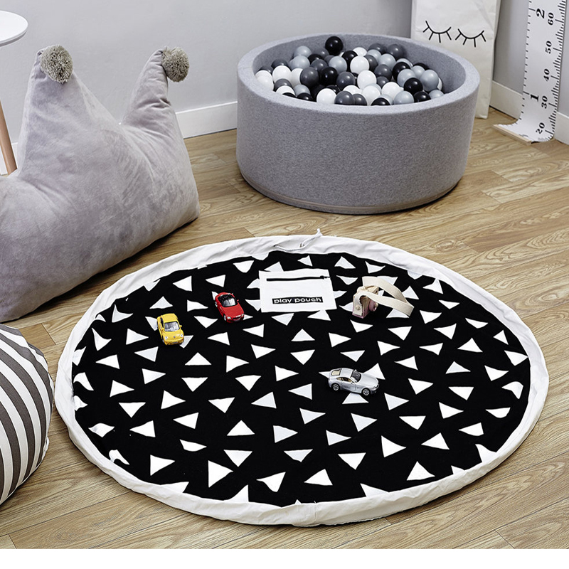 baby play mat/toys storage bag/ travel round mat Kids Carpet Rugs Children Crawling Puzzle Storage Bag Sundries Pouch Soft Game ...