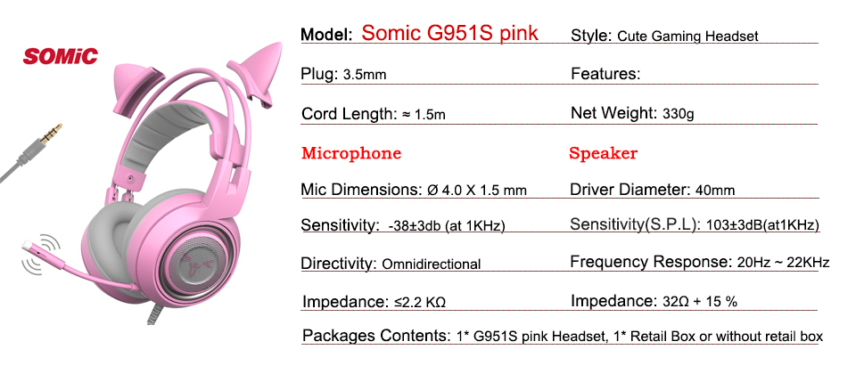cc46953d045 Find SOMIC G951PINK at: https://www.ebay.com/itm/SOMIC-G951-PINK -USB-Vibration-7-1-Sound-Noise-Cancelling-Gaming-Headset-For-PC/223517403113
