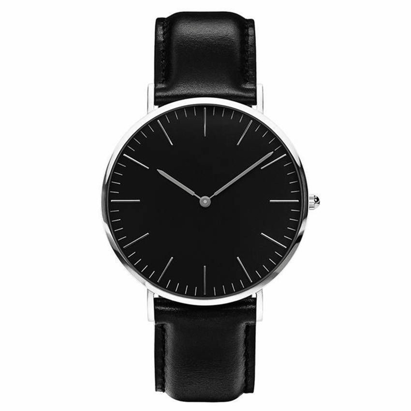 Watch High Quality Men's Watch Leather Or Nylon Watchband Ultra-thin Fashion Casual Men Wrist Watches Sports Women Clock Hours