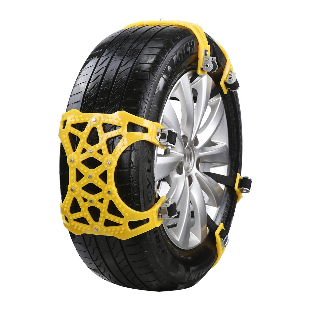 6 pièces voiture anti-dérapant chaîne de pneu réalisable pour 165-275mm largeur de pneu envoyer clé neige pelle gants comme cadeau