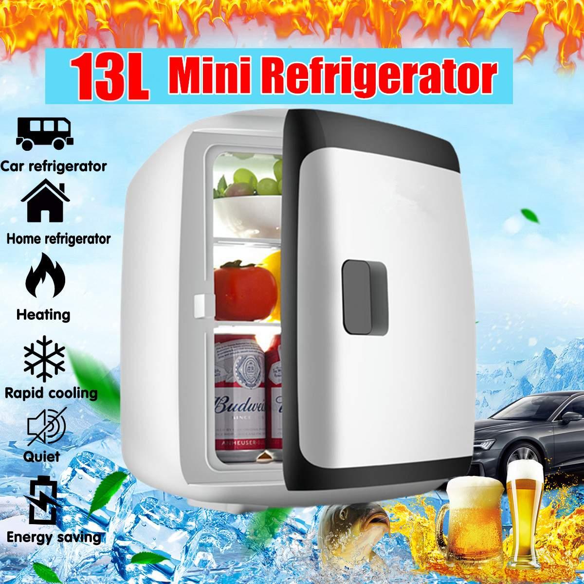 Portable 13L Mini Fridge Refrigerator Dual-core 12V /110V Car Home Freezer Frigo Nevera Dormitory Apartment Refrigerated Box