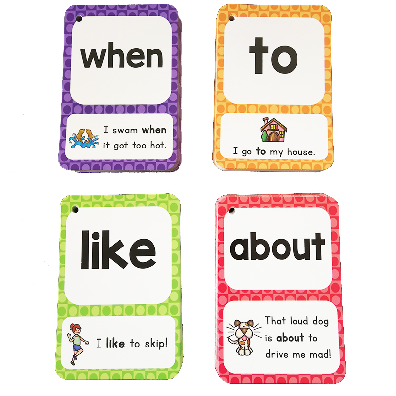 English Cards Sight Words Learning English Sentences Card