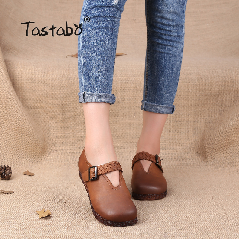 Tastabo Women Flats Shoes Women Moccasins Creepers slipony Female Casual Summer Shoes Ladies Fashion Weave Soft Women Flats