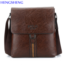 HENGSHENG Luxury PU leather men messengers bag with single shoulder men bag of POLO leather men crossbody bag men shoulder bags