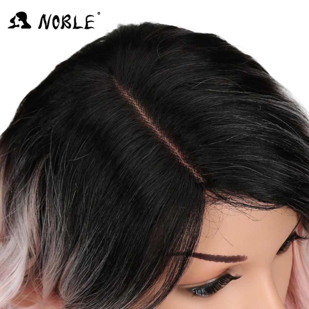 """Благородные волосы афро-американские 12 """"дюймов черные Омбре розовые модные стильные свободные волнистые волосы Синтетические Кружева передние парики для черных женщин"""