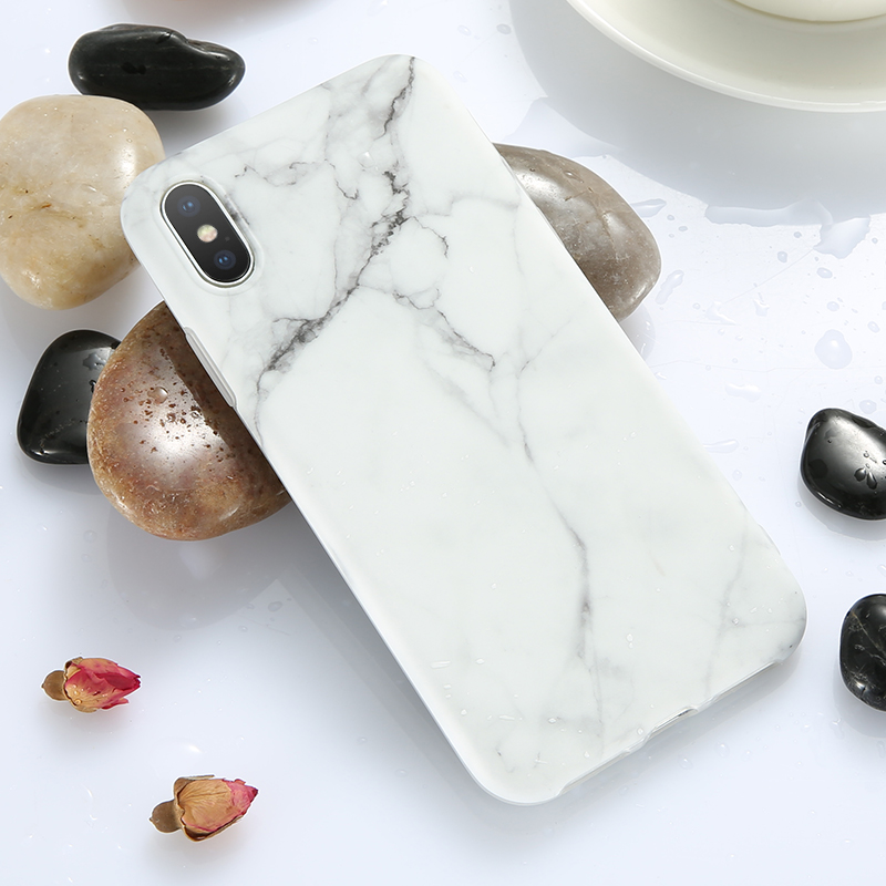 KISSCASE Case For iPhone 7 X Case Simple White Marble Case For iPhone X 7 6 6S 8 Plus 6 S Cover XR XS MAX Coque Silicon Fundas