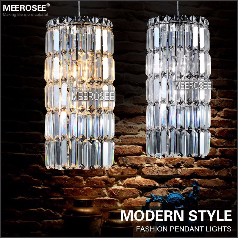 Modern Small <font><b>Pendant</b></font> <font><b>Lights</b></font> Crystal Hanging Lustre De Cristal Lamp Dining Room Foyer Suspension Luminaire Guarantee Luminaria image