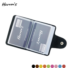 Harrms Sale Feedback 24 Cards Slots Credit Card Package 9 Color Holder PU Leather Fashion Hasp Unisex High Quality Bag New