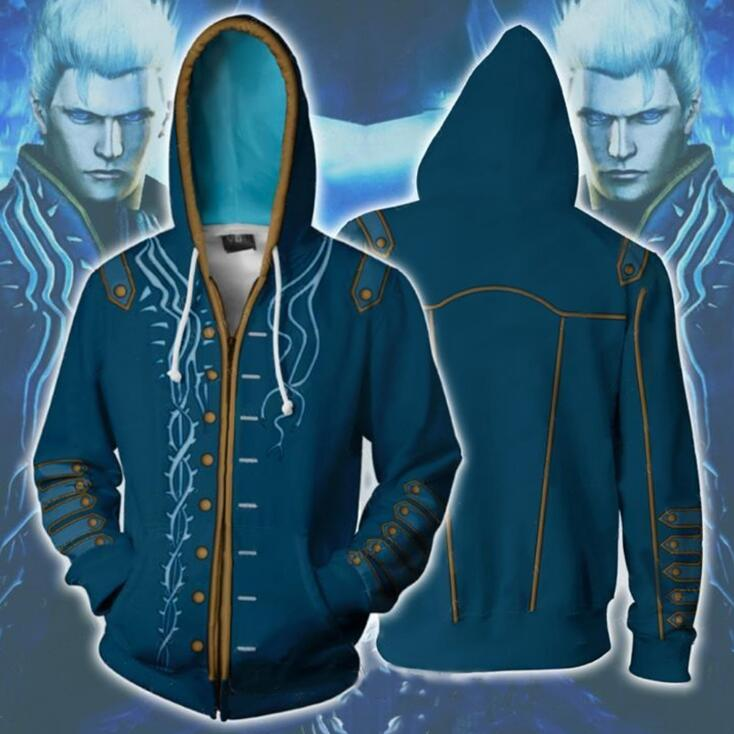 Anime Devil May Cry Jacket Hoodie Sweatshirts Casual Coat Cosplay Costume US
