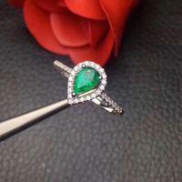 Кольцо с натуральным изумрудом, бесплатная доставка, серебро 925 пробы, 4*6 мм, драгоценный камень, ювелирные изделия
