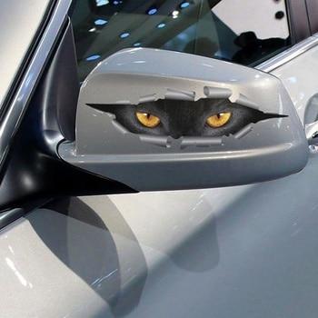 Автостайлинг в 3D стиле, забавный стикер с кошачьими глазами, водостойкий Чехол для всего тела для всех автомобилей