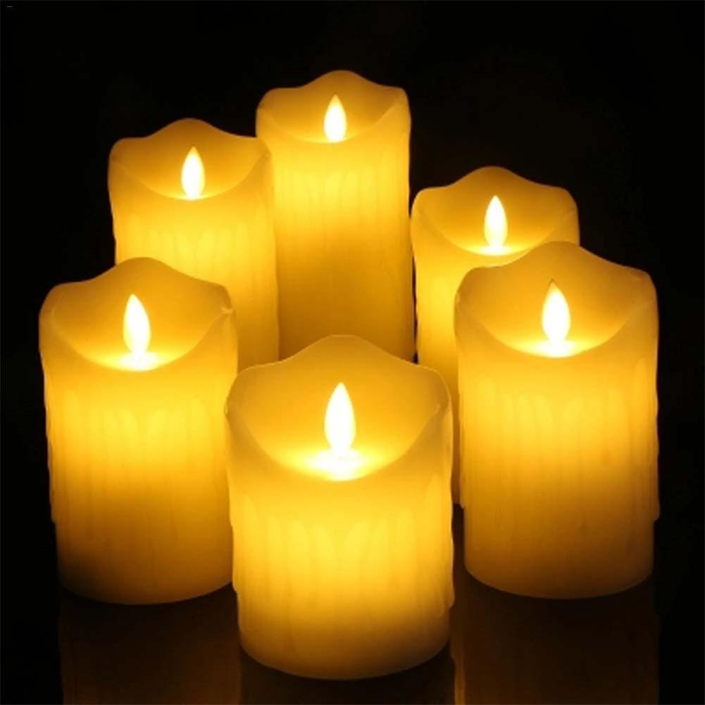 Led Electronic Candle Light Warm Romantic Marriage Propose Valentine's Day Holiday Decorative Lights