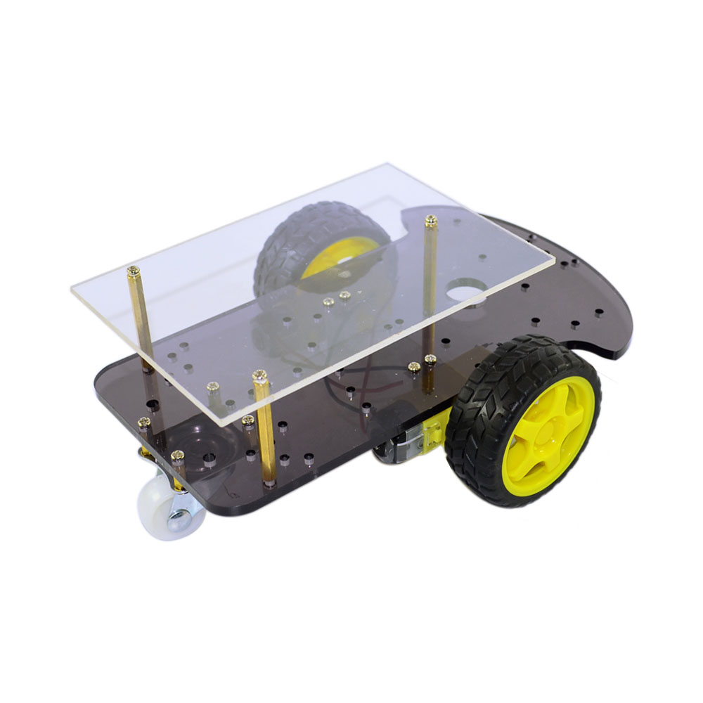 2 Layer Line Tracing Smart Car Chassis Tracing Body Extended Version 2WD Two Wheel Drive Smart Car KitMotor