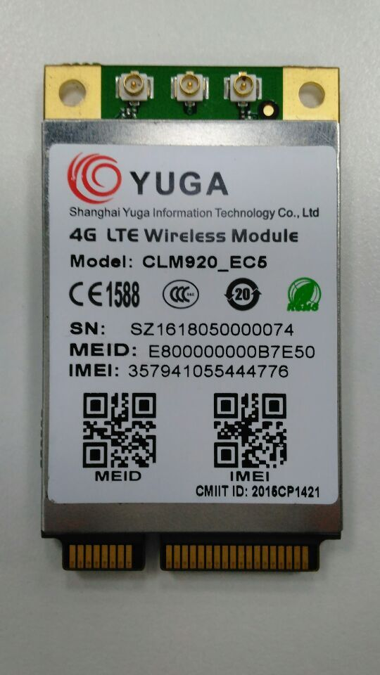 ФОТО  YUGA CLM920-EC5 LTE mini Pcie  CDMA1X/CDMA EVDO Rev.A 100% New&Original wireless module in the stock free shipping