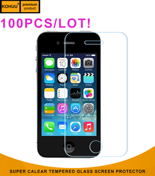 KOHUU 100pcs/lot Assurance Supplier Screen Film for Apple Iphone4 4S 5 5C 5S SE Touch 5/6 Tempered glass Film Screen Protector
