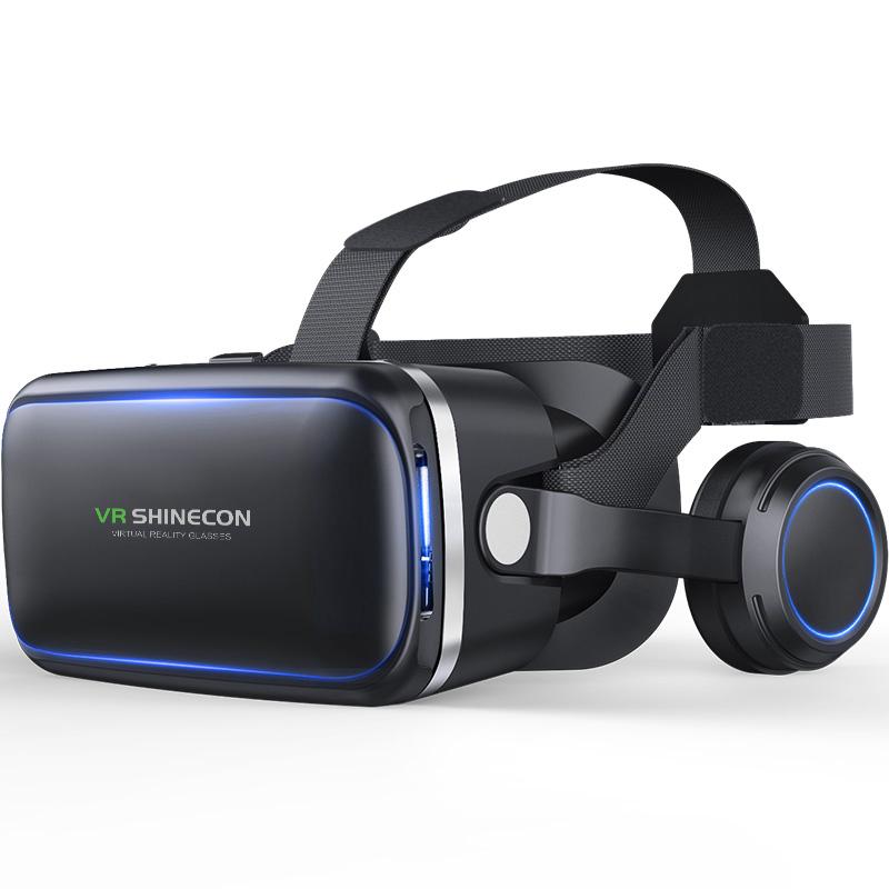 Original VR shinecon 6.0 headset version virtual reality glasses 3D glasses headset helmets smart phones Full package+GamePad 1