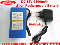 Bezpłatny Statku Lipo Akumulator Przenośny 9800 mAh DC 12 V 12.6 V Super Akumulator Pack UE/US podłącz adapter dla CCTV kamera video recorder