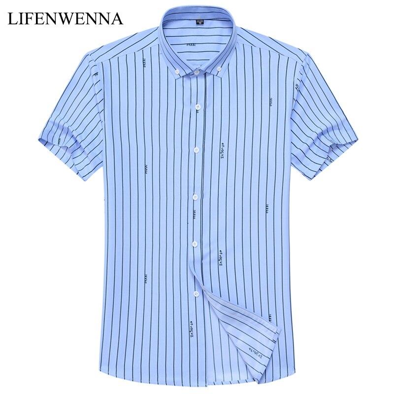 2019 Nueva marca de moda para hombre camisa de verano camisa de manga - Ropa de hombre