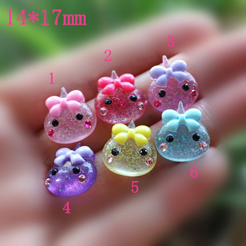 10pcs/Lot Cute Resin Crown Botoes De Resin Music Lovely Flat Back Resin Cabochon For DIY Decoration - 10 Designs