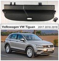For Volkswagen VW Tiguan 2017 2018 2019 Rear Trunk Cargo Cover Security Shield High Qualit Auto Accessories Black Beige