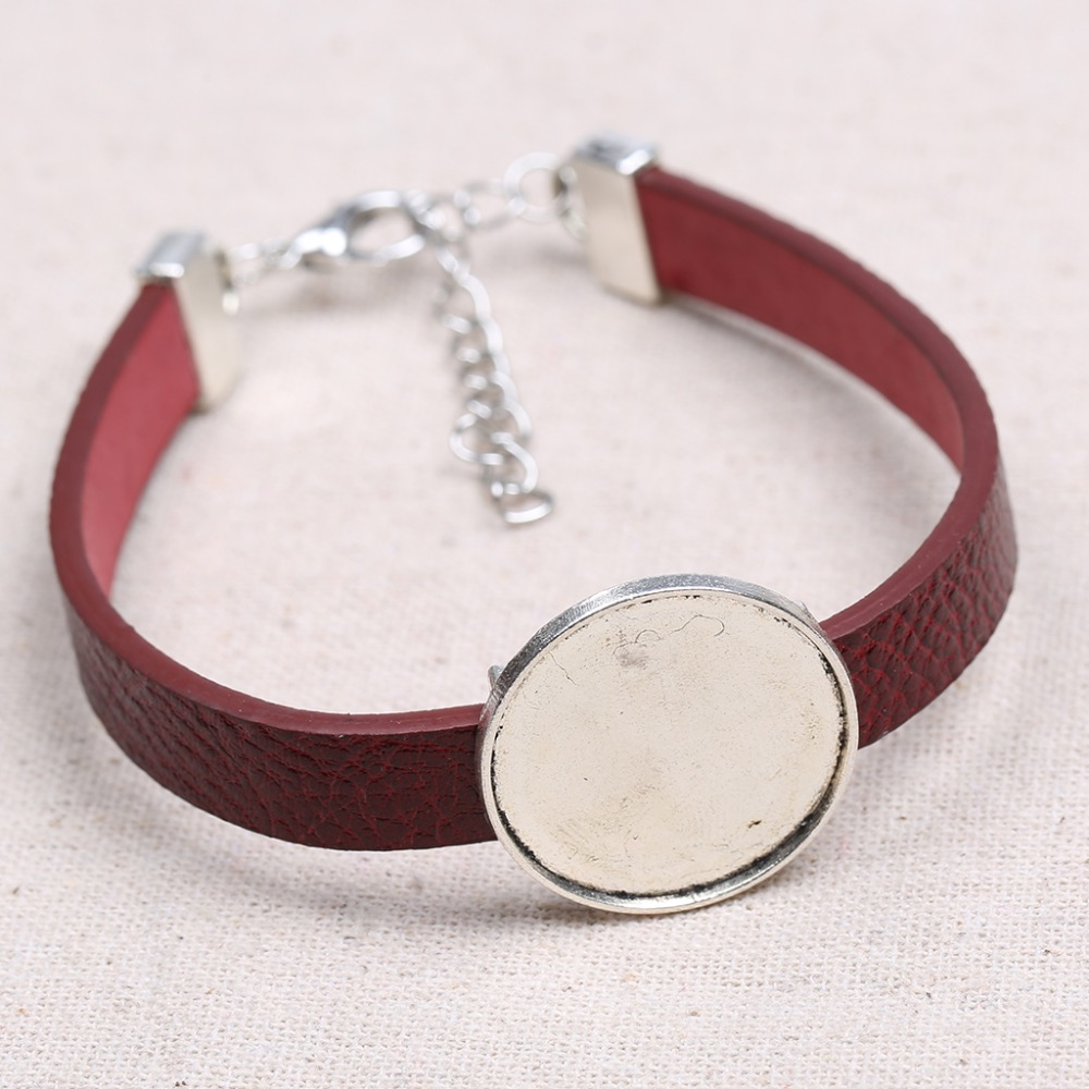All kinds of cheap motor 25mm cabochon bracelet base in All B