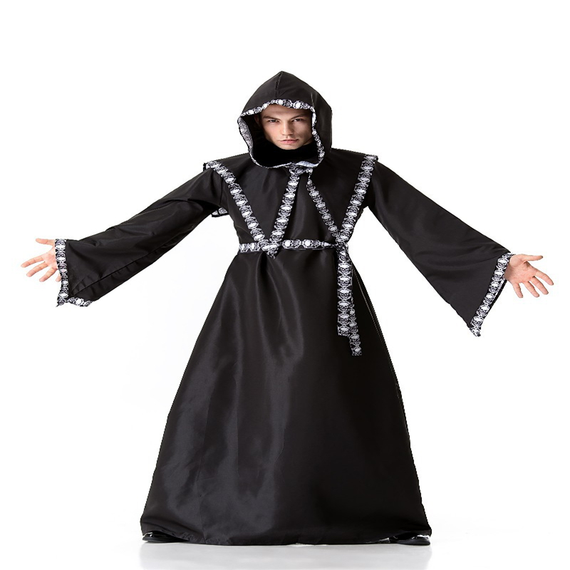 Halloween Ghost Costumes Black Witch Costume cosplay Horror Skull Demon Play Party Dance Performances Men and women Applicable