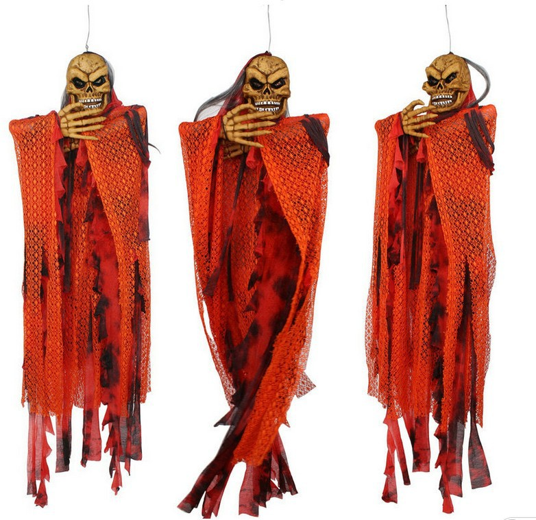 free shippingnew style halloween orange sound control hanging ghost 150cm lengthhalloween decoration in haunted house bar - Free Halloween Sounds Mp3