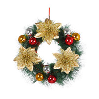 Christmas Party Leaf Door Wall Hanging Decoration Window Ornament Garland Wreath Party Wedding Decor G20