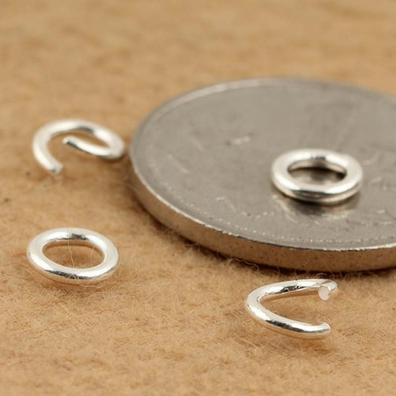 20pcs Genuine Real Pure Solid 925 Sterling Silver Open Jump Rings Split Ring for Key Chains Jewelry Making Findings Accessories