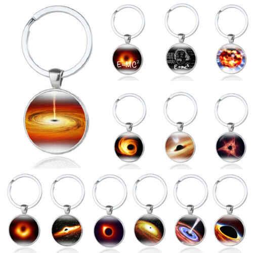 ส่วนบุคคล 2019 ใหม่ Cosmic Planet Black Hole อัญมณีโลหะพวงกุญแจจี้แหวนคู่ Key ผู้ถือวันเกิดของขวัญ